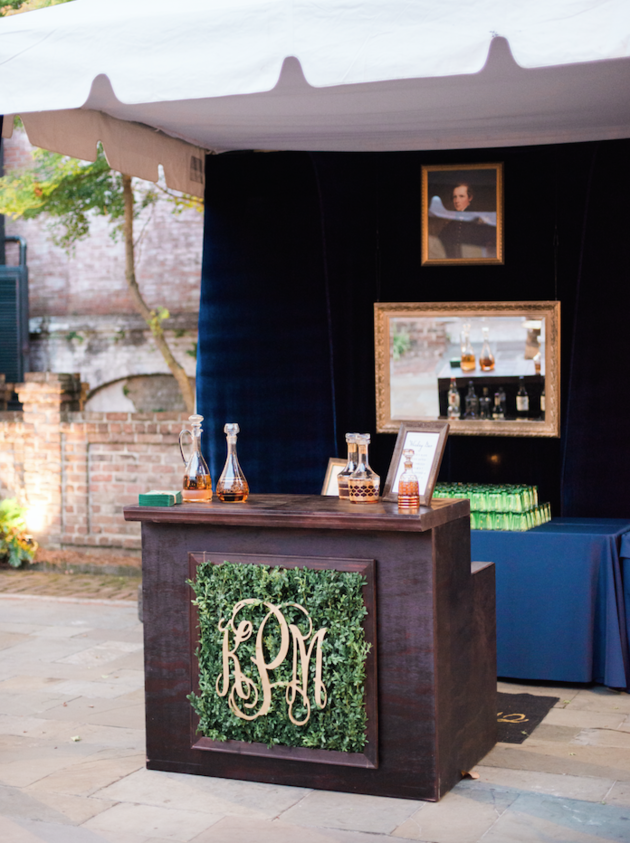 """We love this example of a """"Satellite Bar"""" set up from HuffPost Weddings 