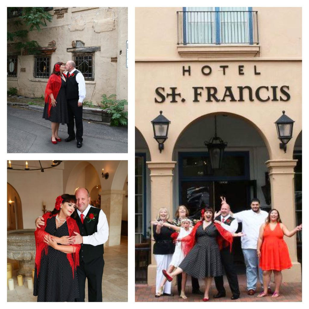 More Hotel St. Francis wedding fabulousness and fun. Photo Credit: Melanie West