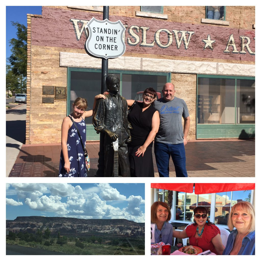 "Getting there is half the fun! ""Standin' on a corner in Winslow, Arizona.."""